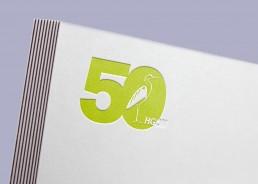 50 jähriges Jubiläum des HGON – Logoentwicklung und visuelle Konzeption