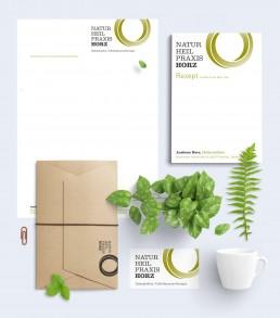 Naturheilpraxis Horz Frankfurt, Logo- und Corporate Design Entwicklung