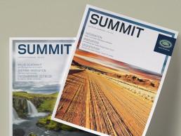 """""""Summit – Land Rover Kundenclub"""" Kundenmagazin, Unternehmenskommunikation, Redesign"""